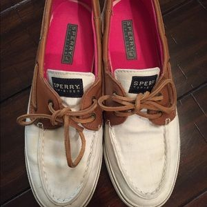 Sperry Top Siders canvas leather deck shoe boot